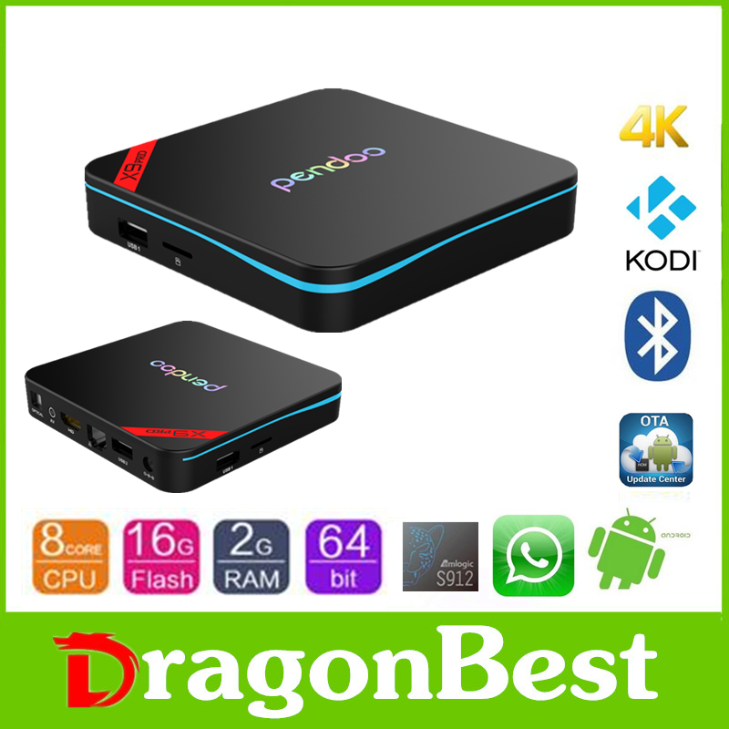 2016 Good price of Pendoo X9 Pro S912 2g 16g android remote amlogic s912 full hd kodi smart tv box