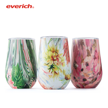 Everich 12 oz | Double Wall Vacuum Insulated Travel Tumbler Cup for Coffee, Wine, Cocktails, Ice Cream Sweat Free, Unbreakable