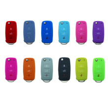 Hot Sale Silicone Rubber Car Remote Key Case For Colorful Key