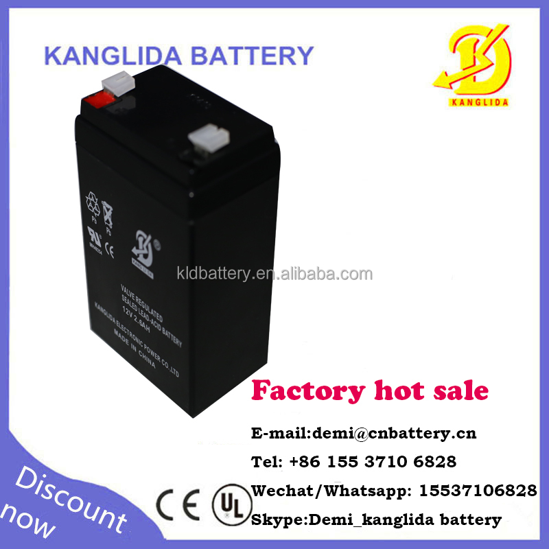 12v 2.6ah rechargeable power station for LED light sealed lead acid battery