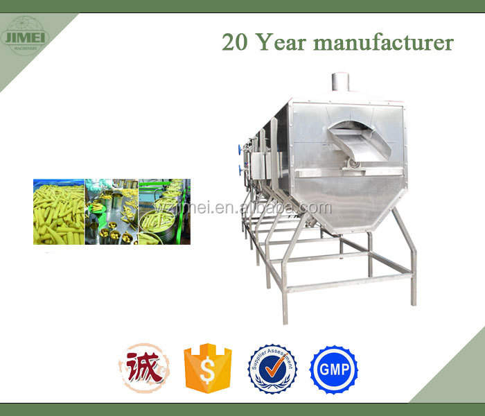 Full Automatic Industrial Spiral Type Vegetable Blanching machine
