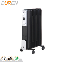 Home use oil filled radiator heater with tip-over switch