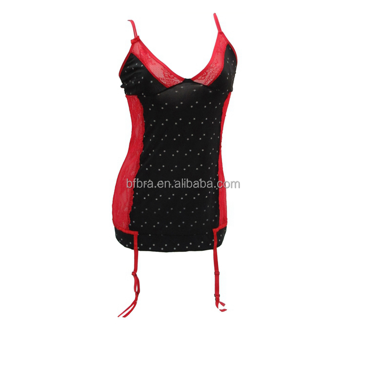 Girl style camisole spandex custom asian babydoll lingerie