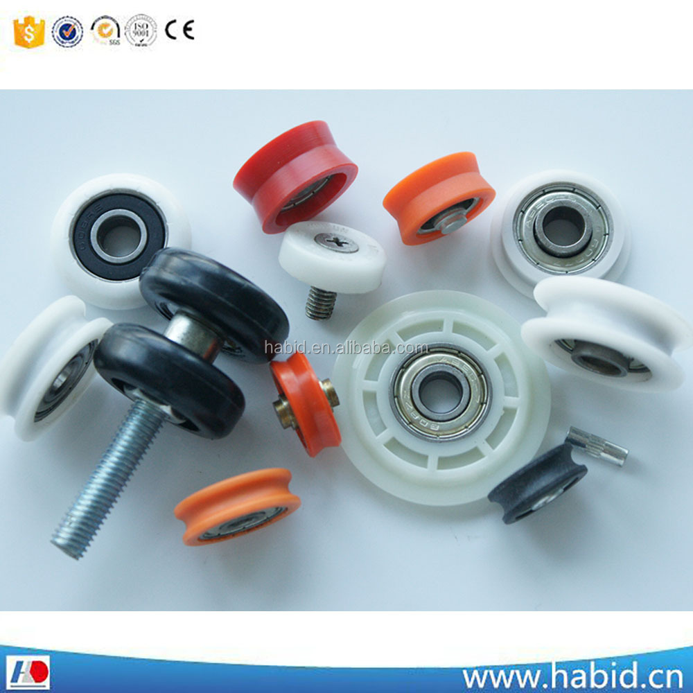 Plastic Pulleys For Sale : Small plastic pulley wheel with bearing for sliding door and window sale