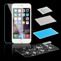 9H premium real tempered glass film screen protector for Phone 6 6 Plus