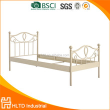 Modern Wrought Iron Cheap Single Metal Bed With Decorative Ball
