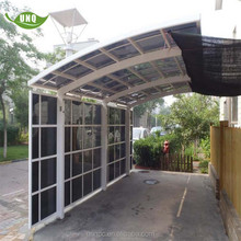 cantilever canopy car parking shed with aluminum frame carport