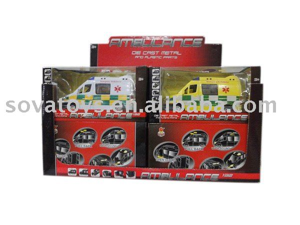 923040101 1:32 Die cast pull back ambulance