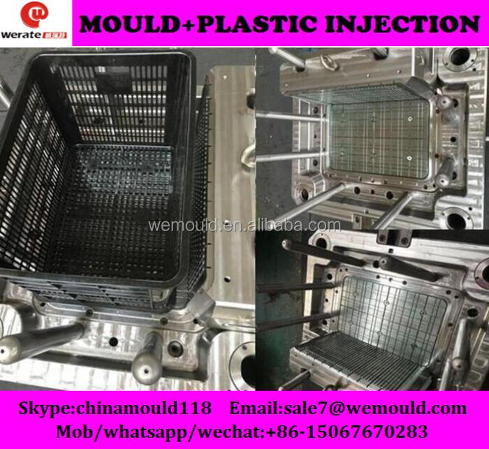 HDPE high quality plastic crate mould
