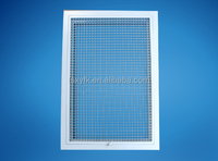 EG hvac aluminum egg crate return air grille with door hinged and filter special sizes available