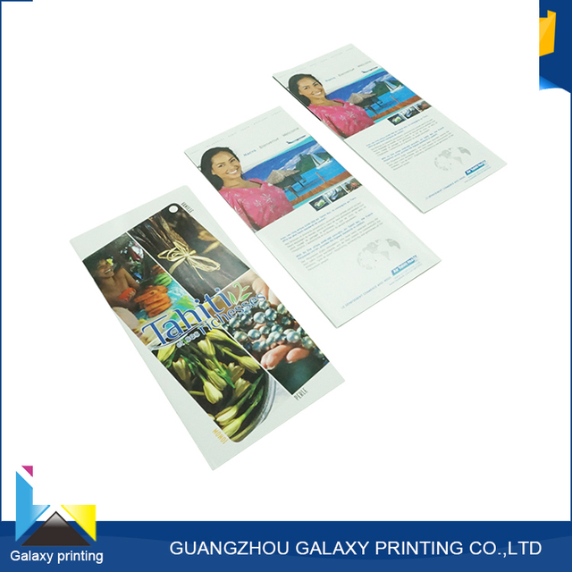 Made in China cheaper book printing services cosmetic flyer brochure
