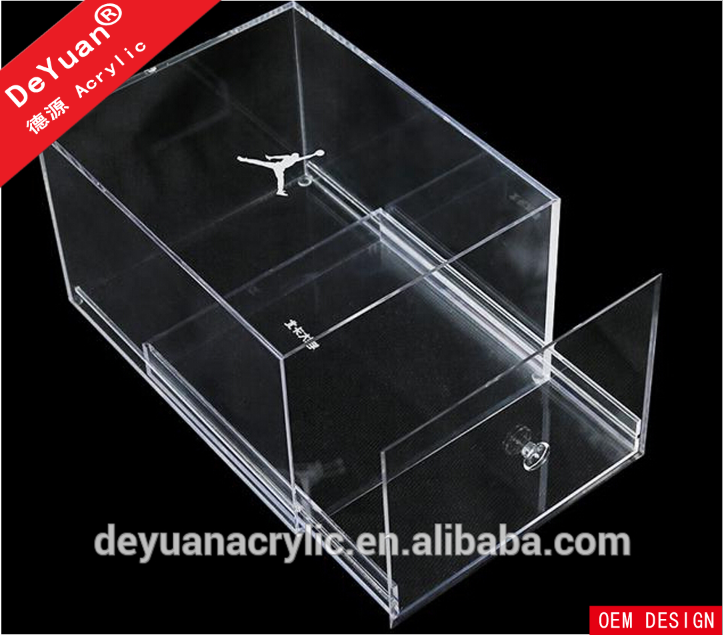 Crystal Clear Acrylic Shoe Display Case / Perspex Shoes Box