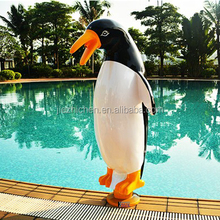 Waterfall decoration cartoon penguin poolside pond spray nozzles water features