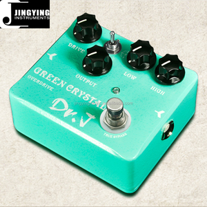 Wholesale Best Quality Low Price Dr.J Electric Guitar Effects pedal, GREEN CRYSTAL OVERDRIVE