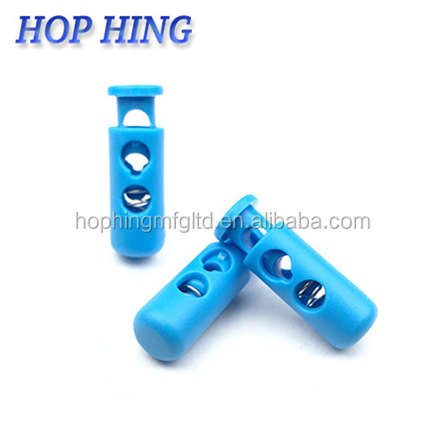 Custom-made Two hole Durable Navy blue elastic plastic stopper/ 3.5mm paracord Lock/ nylon cord lock