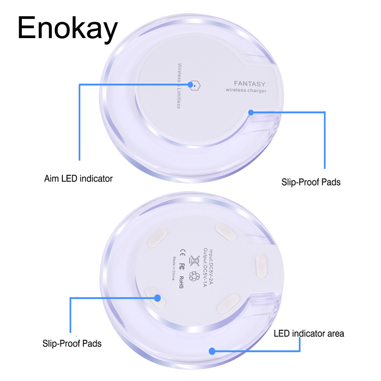 Good quality Crystal qi Wireless Charger for Sansung galaxy NOTE HTC