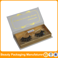small rectangular hot stamp gift box custom eyelash packaging