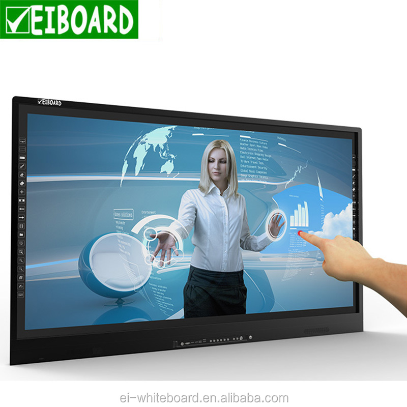 Hot sell all in one 65 inch smart tv led display lcd interactive board with pc