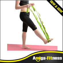 Flexible yoga stretching Outdoor Exercise Strap Elastic Stretching Yoga Band With Loops