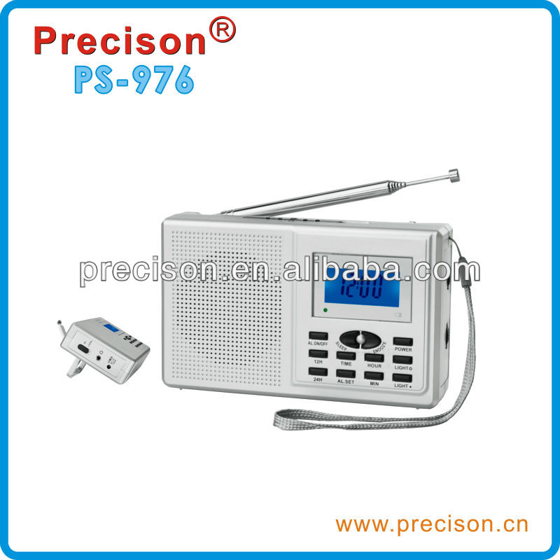 Alarm Clock Radio with 12/24 Hour DX/Local Clock alarm LED battery low indication