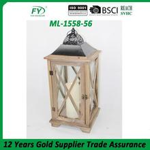 ML-1558-56 Christmas decorative wooden lantern candle holder