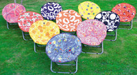 Sling children folding round outdoor moon chairs