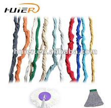 Ne0.5s recycled blended open end polyester cotton colorful yarn for dust mop