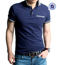 Garment factory wholesale custom cotton men t-shirt polo