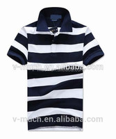 2015 fashion Custom polyester/cotton men's short sleeve polo t shirt
