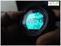 Pedometer 3ATM dive fashion color sport watch with backlight