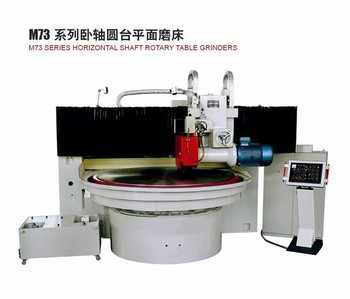 Horizontal spindle surface grinding machine with rotary table