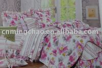 gril bedding set,full bed sheet set,100% cotton,130*70