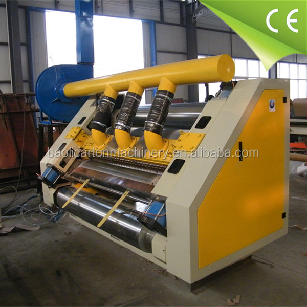 Absorption paper cardboard corrugated single face machine