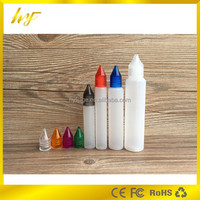 with diamond translucent screw cap 30ml LDPE large mouth plastic unicorn bottle taper and pointy dripper tip