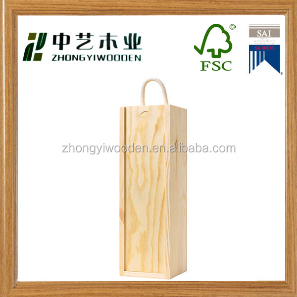 High quality customized gift decoration wholesale wooden wine box