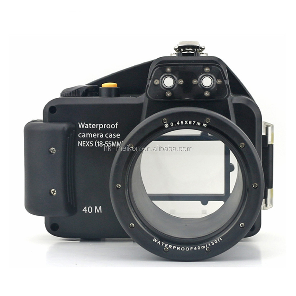 newest underwater meikon diving housing waterproof for sony camera NEX-5 18-55MM