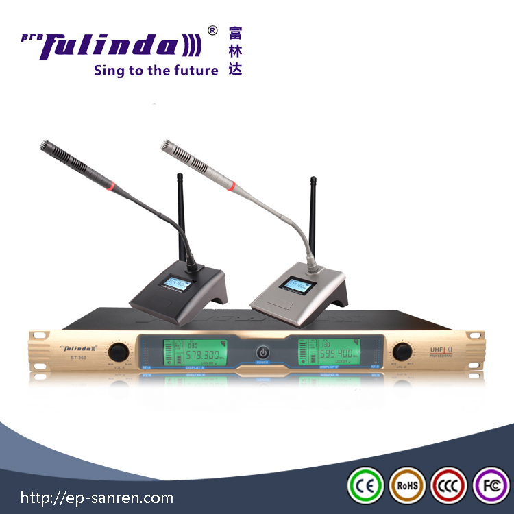 Full automatic environmental protected wireless microphone from China factory