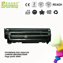 Printer Toner Cartridge Compatible FOR CANON LBP 2900 / 3000 (PTCRG303/703 /Q2612A)