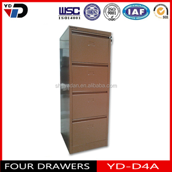 Cheap used office steel storage cabine/4 drawer metal file cabinet/  structure 4 drawer