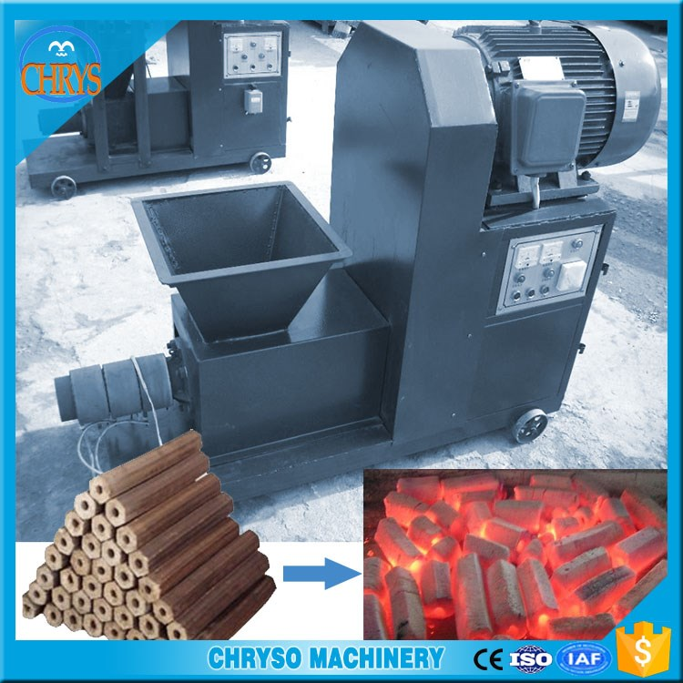 Factory directly sale wood hexagon charcoal briquette machine /wood sawdust charcoal stick machine