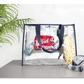 Fashion transparent clear plastic vinyl tote bags transparent pvc handbag wholesale China