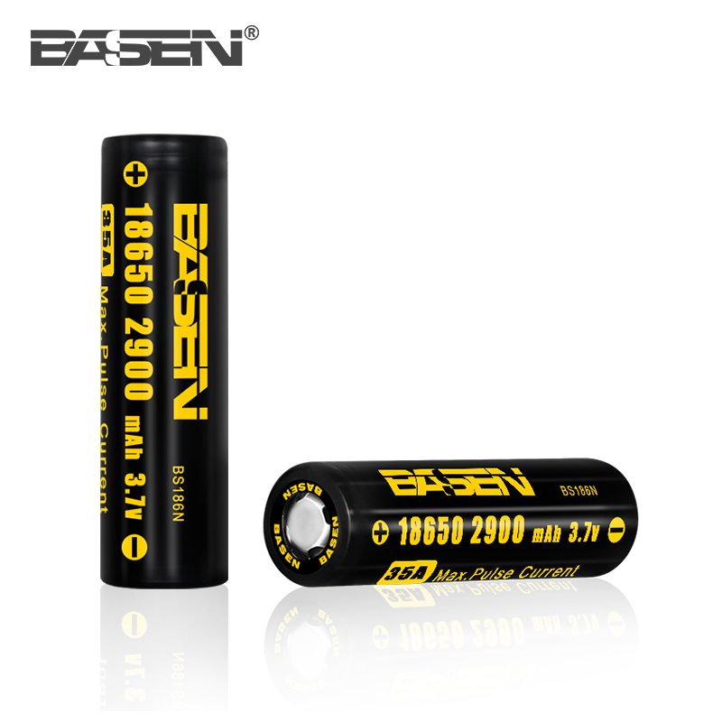 3.7v icr 18650 li-ion rechargeable battery BASEN 18650 2900mAh battery 2 wheel scooter cells