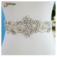 wedding dress design bailange bridal dress fashion wholesale pearl rhinestone bridal sashes belt