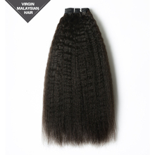 Accept Paypal Wholesale Malaysian Weaving Kinky Straight Single Drawn Virgin Human Hair Extension Afro Hair