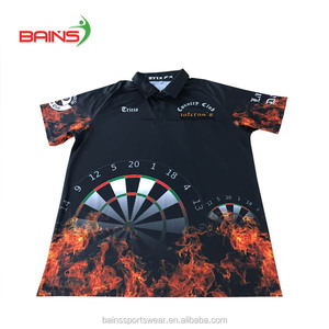 Design your own sublimation polo dart t shirt