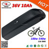 Downtube Batery Lithium Polymer Battery 36V 10Ah Electric Bike Li Ion Battery with BMS and Charger