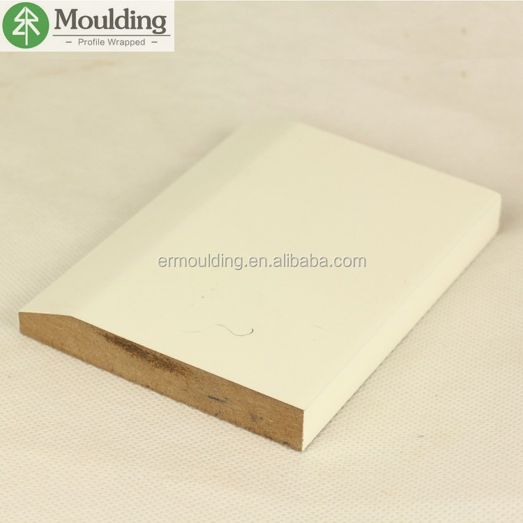 5-1/4 white primed MDF baseboard with CARB P2