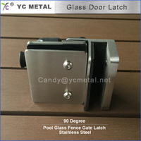 304 Stainless Steel 90 Degree Satin Fencing Glass Lock