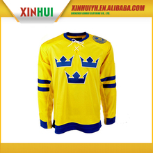 Wholesale cheap college 100% polyester Dye sublimation printing custom made ice hockey jerseys