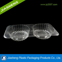 Vacuum forming plastic packaging PET food tray with divided